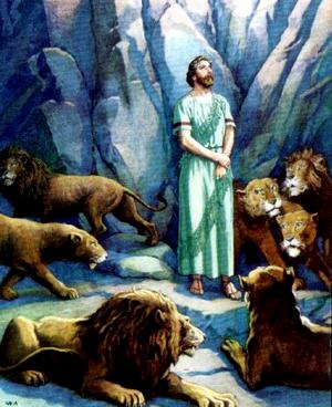Изображение для главы: Даниил в львином рве