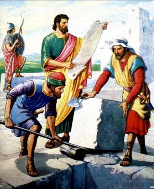 Изображение для главы: Неемия строит стены Иерусалима