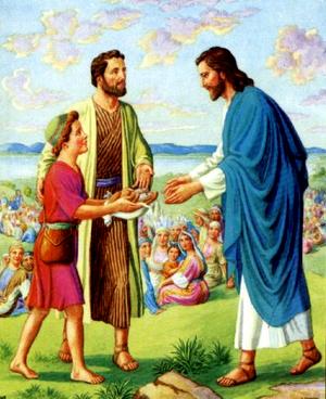 Изображение для главы: Иисус насыщает пять тысяч человек пятью хлебами