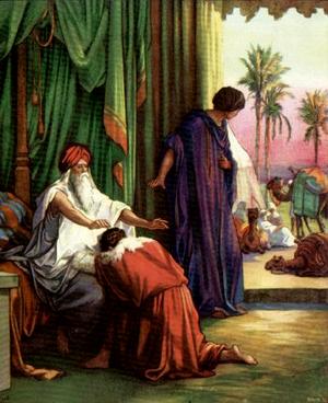 Изображение для главы: Иаков получает благословение отца