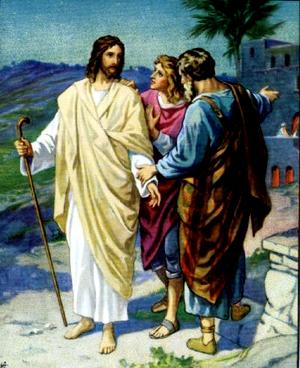 Изображение для главы: Иисус является ученикам, идущим в Еммаус
