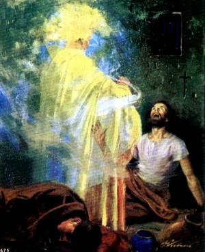 Изображение для главы: Ангел освобождает Петра из тюрьмы