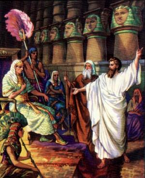 Изображение для главы: Моисей и Аарон перед фараоном