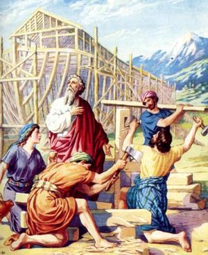 Изображение для главы: Потоп. Ной строит ковчег