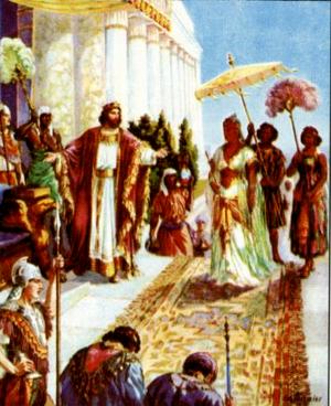 Изображение для главы: Соломон и царица Савская