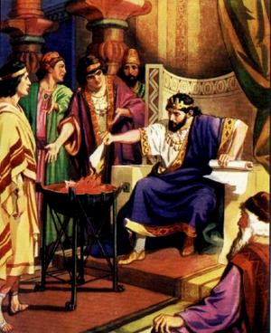 Царь Иоаким сжигает свиток с пророчеством