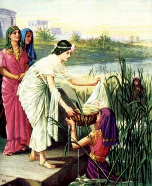 Дочь фараона находит Моисея