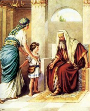 Анна посвящает Самуила Богу